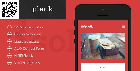 plank-mobile-htmlcss-portfolio-template