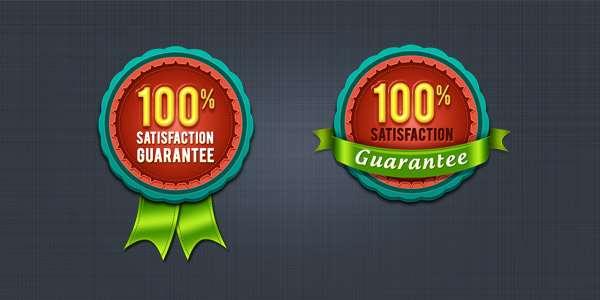 satisfaction guarantee seal and badge