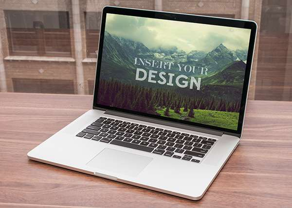 MacBook By Window Mock up PSD1 image