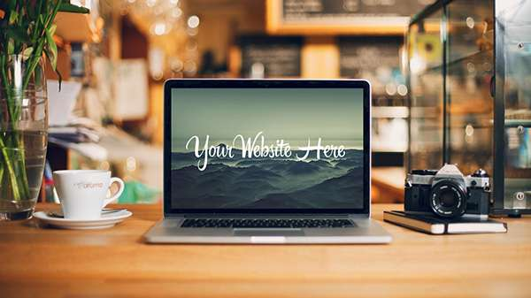 MacBook Desk Mockup PSD