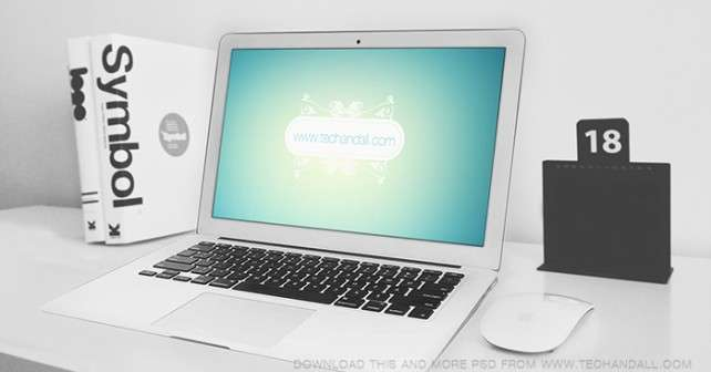 Macbook Air Showcase Mockup