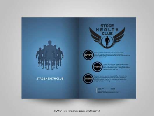 STAGE health club 35 Creative Brochure Design examples for your Inspiration