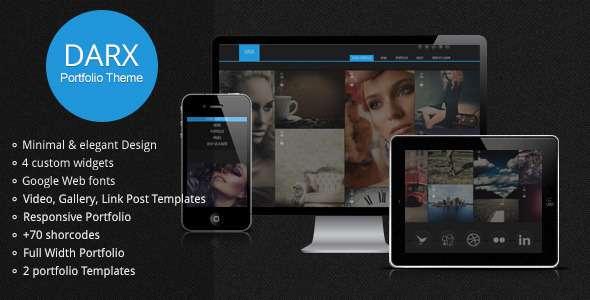 Darx - Responsive Dark Portfolio WordPress Theme - ThemeForest Item for Sale