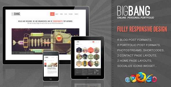 Bigbang - Responsive WordPress Template - ThemeForest Item for Sale