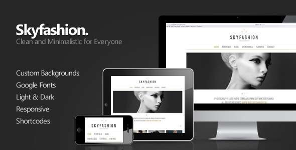 Skyfashion - Minimalist WordPress Theme - ThemeForest Item for Sale
