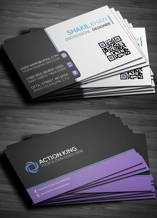 Free Business Cards PSD Templates Freakifycom - Template of business card